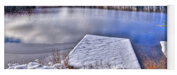 Winter Colors On West Lake Yoga Mat