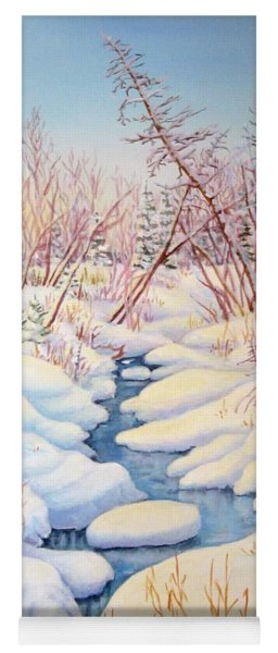 Winter Creek 1  Yoga Mat