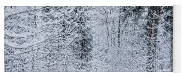 Yoga Mat featuring the photograph Winter Glow- by JD Mims