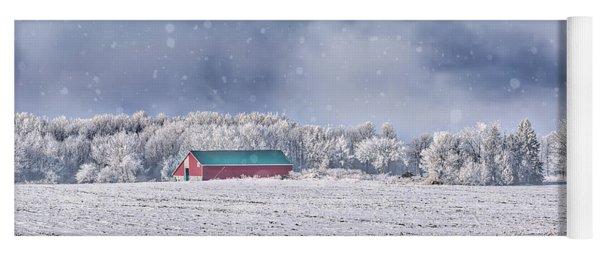 Winter Grey County Yoga Mat