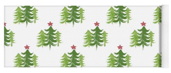 Winter Holiday Trees 2- Art By Linda Woods Yoga Mat