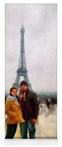 Winter Honeymoon In Paris Yoga Mat