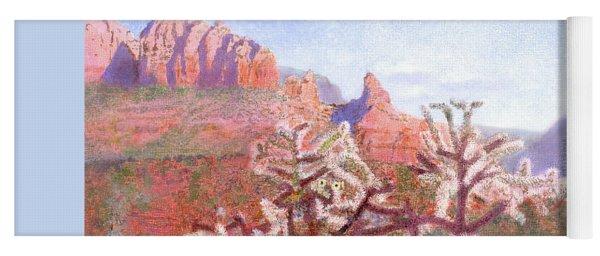 Yoga Mat featuring the painting Winter In Sedona, Arizona by Nancy Lee Moran