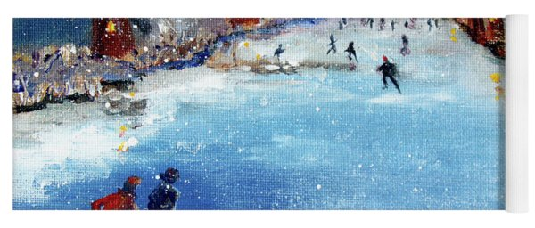 Winter In The Netherlands Yoga Mat