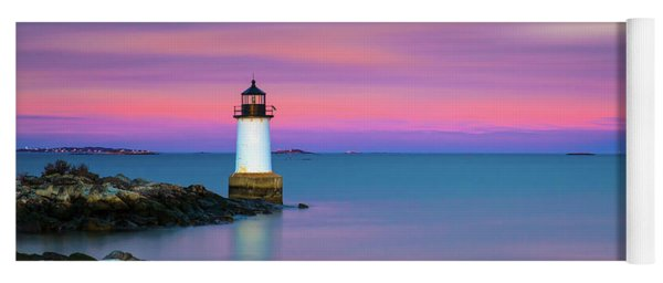 Winter Island Light 1 Yoga Mat