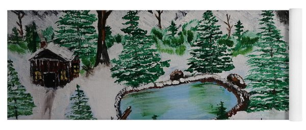 Yoga Mat featuring the painting Winter by Jimmy Clark