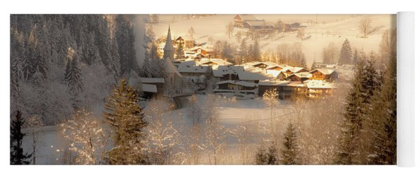 Winter Landscape Salzburger Land Yoga Mat