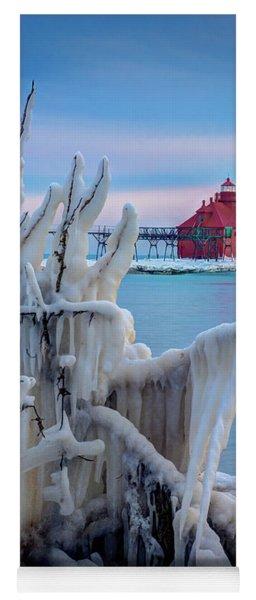 Winter Lighthouse Yoga Mat
