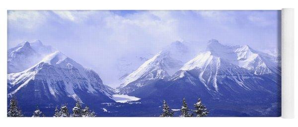 Winter Mountains Yoga Mat