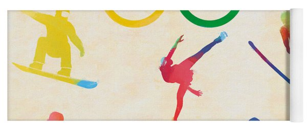 Winter Olympics Games Yoga Mat