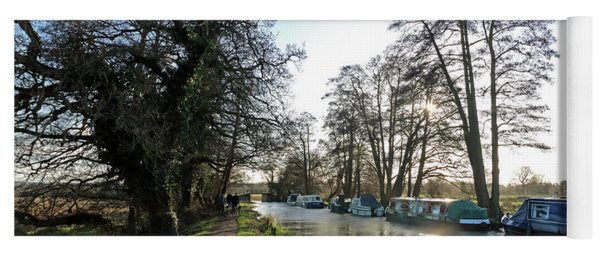 Winter On The River Wey At Send Surrey Yoga Mat