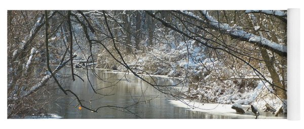 Winter On The Stream Yoga Mat