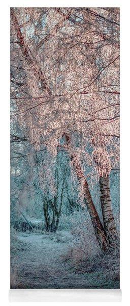Winter Path #h1 Yoga Mat