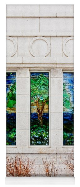 Winter Quarters Temple Tree Of Life Stained Glass Window Details Yoga Mat