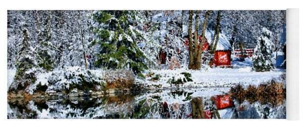Winter Reflection Yoga Mat