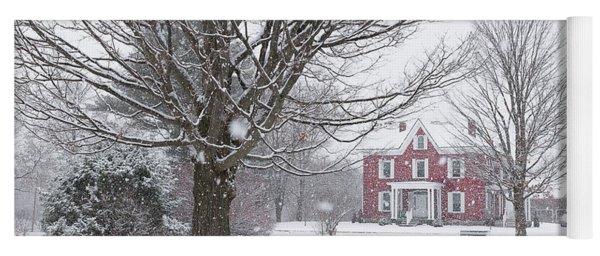 Winter Scene Yoga Mat