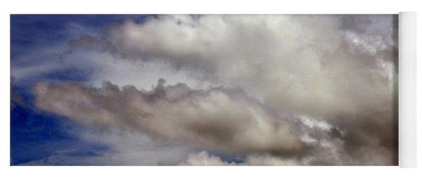 Winter Snow Clouds Yoga Mat