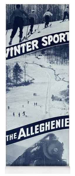 Winter Sports In The Alleghenies Yoga Mat