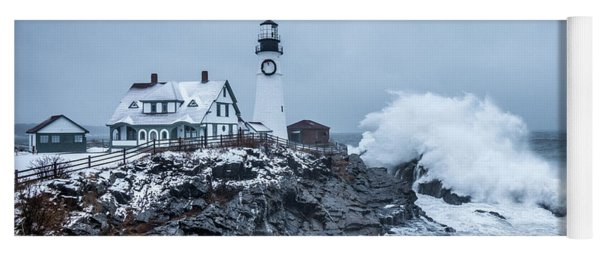 Winter Storm, Portland Headlight Yoga Mat