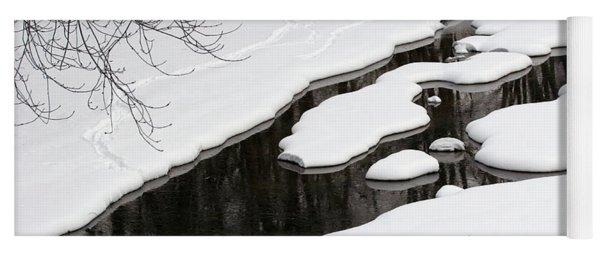 Winter Stream  Yoga Mat