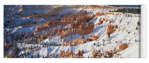 Yoga Mat featuring the photograph Winter Sunrise Bryce Canyon National Park Utah by Dave Welling