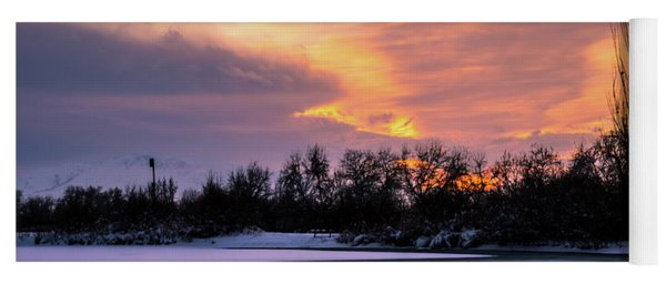 Winter Sunset Yoga Mat