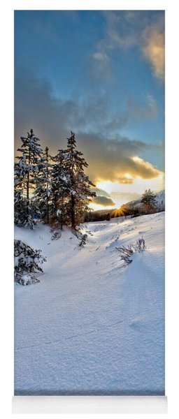 Winter Sunset Yoga Mat