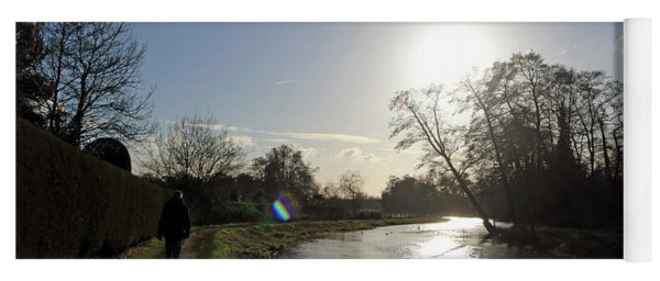 Winter Sunshine On The River Wey At Send Surrey Yoga Mat