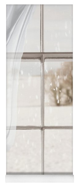 Winter Through A Window Yoga Mat