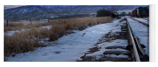 Winter Tracks Yoga Mat