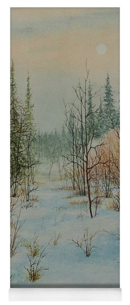 Winter Trail Alberta Yoga Mat