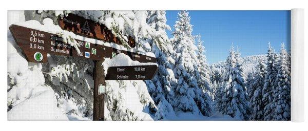 winter way in the Upper Harz Yoga Mat