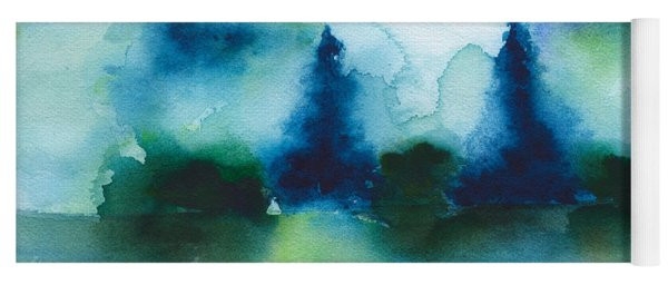 Winterland Trees Yoga Mat