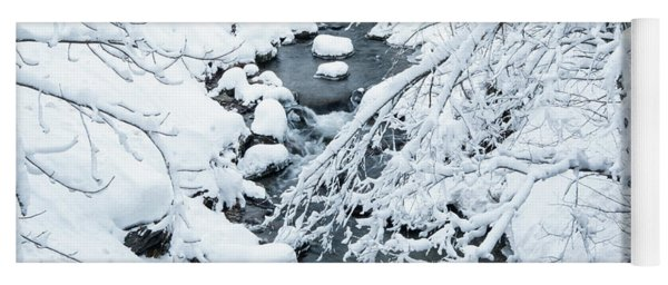 Yoga Mat featuring the photograph Winters Creek- by JD Mims