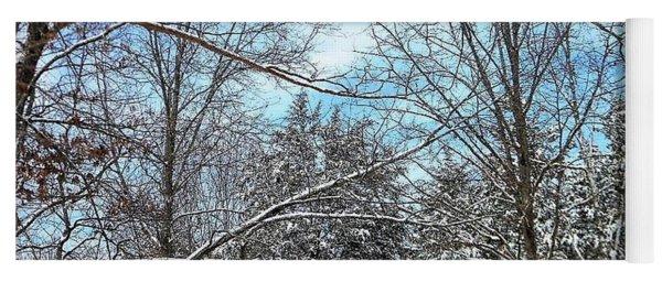 Winter's First Snow Yoga Mat