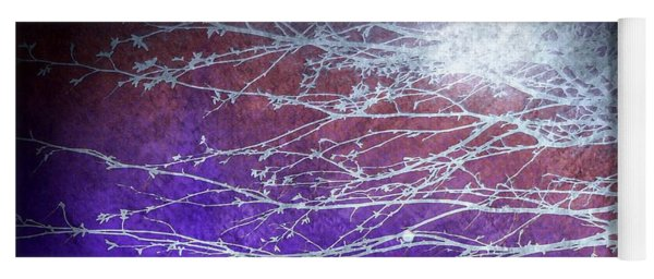 Yoga Mat featuring the mixed media Winter's Twilight by Susan Maxwell Schmidt