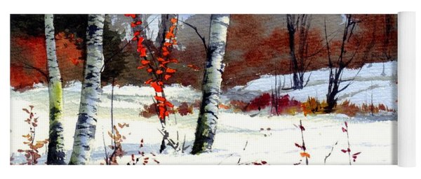 Wintertime Painting Yoga Mat