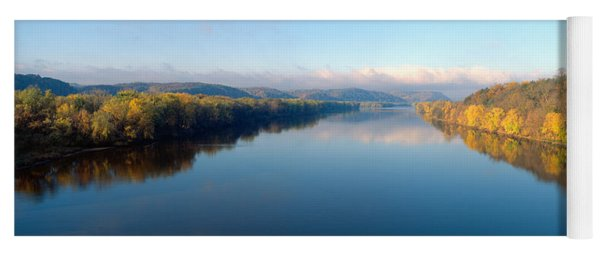 Wisconsin River And Prairie De Chen Yoga Mat