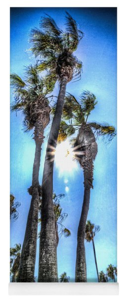 Yoga Mat featuring the photograph Wispy Palms by T Brian Jones