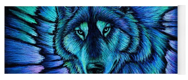 Wolf Aurora Yoga Mat