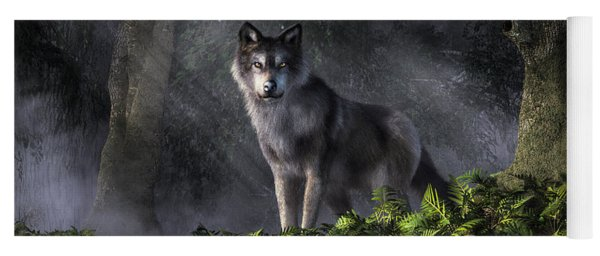 Wolf In The Forest Yoga Mat