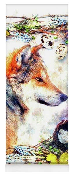 Wolf Portrait Yoga Mat