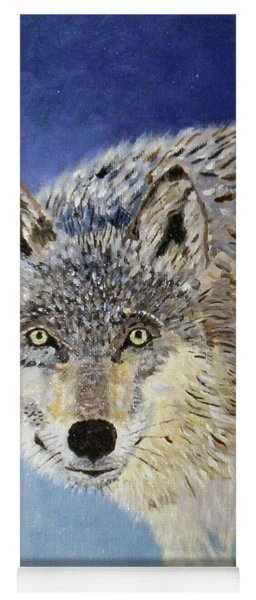 Wolf Study Yoga Mat