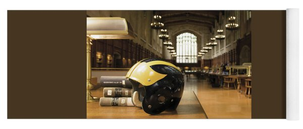 Wolverine Helmet In Law Library Yoga Mat