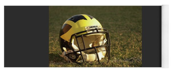 Yoga Mat featuring the photograph Wolverine Helmet In Morning Sunlight by Michigan Helmet