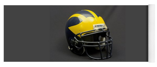 Yoga Mat featuring the photograph Wolverine Helmet Of The 2000s Era by Michigan Helmet