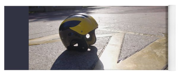 Wolverine Helmet On The Diag Yoga Mat