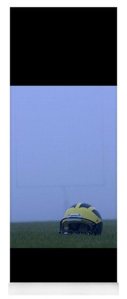 Wolverine Helmet On The Field In Heavy Fog Yoga Mat