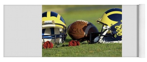 Wolverine Helmets And Roses Yoga Mat