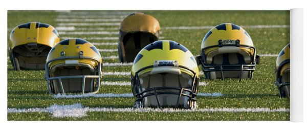 Wolverine Helmets Throughout History On The Field Yoga Mat
